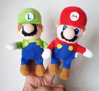 Wholesale luigi plush super mario brother toys finger cartoon characters puppets children s day gift