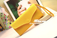 Wholesale 2012 Wallet Envelope Purse Clutch Hand Bag HOT Fashion WOMEN PU Leather Handbags Totes