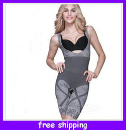 Wholesale Gray New Fashions Natural Bamboo Charcoal Body Shaper Underwear Slimming Suit bodysuits Good Quality