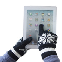 cotton knitted gloves - T06 Mens Winter Gloves Sensor Touch Knit Black pair