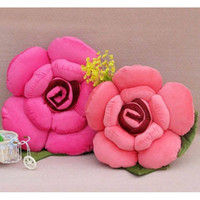 Wholesale retail married gift toys quot rose plush lover pillow cushion cm flower hold birthday present