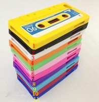 Wholesale Tape Cassette Silicone Case For iPhone G Mobile Phone Cover Protective Casing