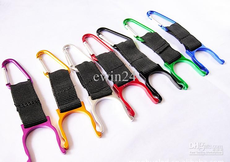 Outdoor Carabiner Water Bottle Clip Holder Camping Hiking Aluminum ...