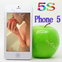 Wholesale 5S I5 Cell Phone Quad band Dual SIM with inch GSM Bluetooth Phone