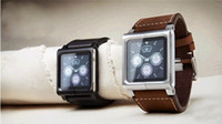 Wholesale For iPod Nano aluminum lunatik Lynk Chicago Collectio all leather Tik Band Wrist Strap Watch
