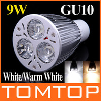 Wholesale High power W LM led Bulb V GU10 White Warm White LED Light SpotLight Lamp H8934W WW