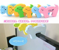 Safety Gates baby gates - Child Baby Animal Cartoon Jammers Stop door stopper lock Safety Guard Finger Protect