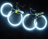 großhandel ccfl light-Geführte Selbstlampe 1pcs / lot CCFL Auto Angel Eyes Licht-Kits für BMW E46 NON-Projector Schnelle leuchten in Super Cold Weather
