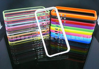 Wholesale 2012 HOT TPU Bumper Frame Metal Button Case Cover for iphone G in Retail package
