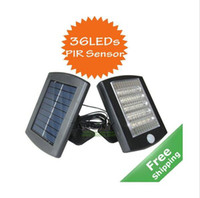 Wholesale Solar PIR Sensor Light Bright LED bulbs PIR sensor included Updated solar panel