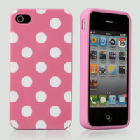 For Apple iPhone   Polka Dots Silicone Rubber TPU Gel Jacket Case Cover for iPhone 5 iPhone5