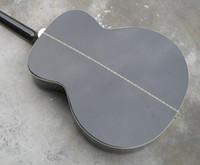 Envío de la venta caliente de la guitarra Spruce J200 BK Negro 6 cuerdas de la guitarra acústica acústica Guitarra Eléctrica estrenar