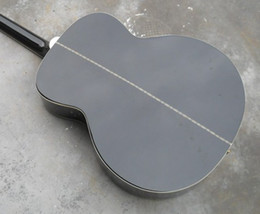 2017 cordes de guitare acoustique noir Livraison gratuite Vente chaude Spruce guitare j200 BK Black 6 Cordes guitare acoustique guitares acoustiques électriques Brand New bon marché cordes de guitare acoustique noir