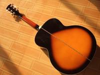 Venta caliente a estrenar Spruce Vintage Sunburst SJ200 VS 6 cuerdas folk acústico guitarras eléctricas con Fishman Caso