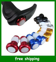 Wholesale Bicycle Handlebar Lamp Bike Cycling Lights Black Shell Turn signal Red Warning Light Free Shpping