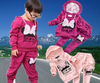 Wholesale HOT SALE Winter Autumn Baby boys girls clothing sets cotton cartoon sports sets girls jacket pant