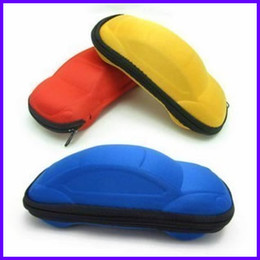 Wholesale 20pcs Harden EVA Car Shape Goggles Box Large Sunglasses Box Zipper Glasses Box CT05B