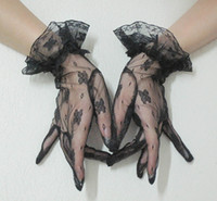 Wholesale 2012 new black lace gloves sexy lady gloves elasticity mittens gloves party glove halloween gloves