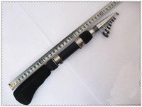 Wholesale Stainless steel carbon fiber Telescopic mini portable1 M sea fishing rod fishing tackle