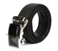 Wholesale 2012 Brand New Mens Black Leather Belts Adjustable Classic Blets Buckle Belts Men Belt