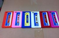 For Apple iPhone cassette case - Retro Cassette Tape Silicone Case Soft Cover for Apple iPhone5 iPhone G