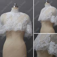 al por mayor capelet de novia-Vintage Jacket capelet con cuentas nupcial del bolero de la boda Envuelva Capas Chaquetas Actual Imágenes real DB229