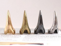 Wholesale punk Gold Silver Bronze Gun black Eagle Claw Fingernail Ring Mix color set unisex jewelry