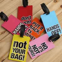 Wholesale Letter travel name tag travel tag card pocket card case card tag pvc luggage tag