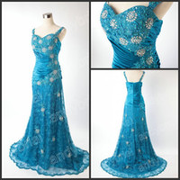 2012 Hot Selling Real Image Strappy Blue Lace Mother Of The ...