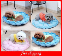 Beds Round Blue Brand New! Round Dog Cat Pet Bed Sleep Mat Dual Purpose Nest Unique Soft Pad Pet Sofa (Large Size)