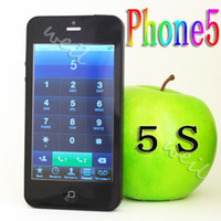Wholesale F5 Phone5 Cell Phone with inch touch screen dual sim cards standby FM MP3 quad band WEIL