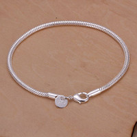 Wholesale H187 Silver Pretty For Gift High Quality mm Snake Bracelets Brand New Factory Prices