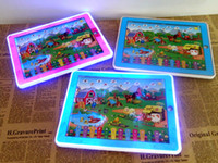 Wholesale Wohlesale Y Pad Table Farm educational Toys Pink and Blue Mixed Music and Led Light