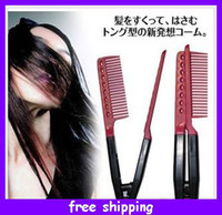 Wholesale Fashion Beauty Hairdressing Items Brazilian keratin treatment Grip Straightening V Comb Hot Sellings