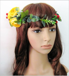 Wholesale The hand made sen Lin Department of simulation flower garlands hair crown corolla bride hair bands
