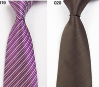 Wholesale 10pcs Brand New Mens Skinny Solid Color Plain Satin Tie Necktie twill stripe Classical neckcloth