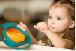 Wholesale UFO gyroscope rotating bowl baby bowl toy would not fall in the bowl for kids UFO