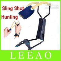 Wholesale Best Price Sling Shot Camping Hunting Folding Wrist Powerful Slingshot
