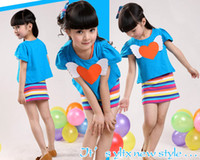 Wholesale Little Girl Baby Love Smocked Tunic amp rainbow Tank Full Long Dress Skirt Rainbow love Outfits Girls