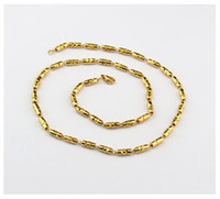 Wholesale New Arrival Fastness Copper Plated Gold Chain Men Necklace