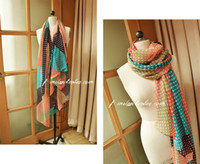Wholesale 2012 new scarf shawls cotton linen texture gauze kerchief color matching stars scarf