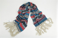 Wholesale Mitag color super wool scarf knitted shawl collar tassel Double upset Super warm Super fashion
