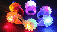Wholesale Strawberry LED Finger Ring Lights flash light Halloween Party LED toys Wedding supplies