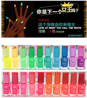 Wholesale New Colors ml Fluorescent Neon Nail Art Polish Glow in Dark Nail Varnish K