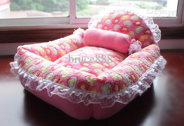 Pet Full Detachable Lace Coral Fleece Kennel + Candy Pillows, Pet Kennel, Dog Bed, Pet Nest,Dog Sofa From Bruce888, $36.76 Dhgat