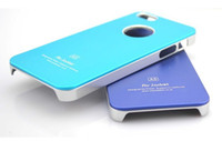Metal air jacket iphone case - 11 colors A5 Air Jacket Plating Metal Surface Ultrathin Aluminum Bumper Case cover for iphone