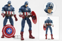Wholesale SUPER HEROES Action Figure toys Marvel The Avengers Heros with light set PVC christmas