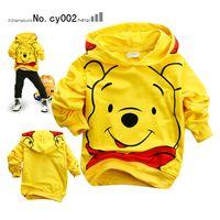 2T-3T baby sweaters sale - Hot sale boy s Hooded outerwear boy s bear hooded coat boy s girl s top shirts Hooded Sweater
