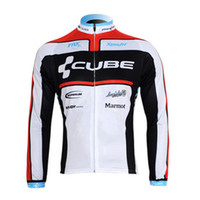 Wholesale 2012 Hot sell CUBE Long Sleeved Cycling Jersey only jersey3439
