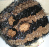 Wholesale Real Genuine Mink Skullies Hat Beret Knitted HAT Women Winter Gorgeous